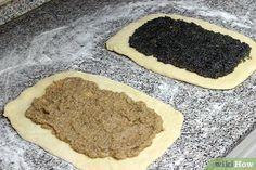 Image titled Make Beigli (Hungarian Poppy Seed & Walnut Rolls) Step 6 Hungarian Cookies, Hungarian Desserts, Hungarian Cake, Hungarian Cuisine, Hungarian Recipes, Hungarian Food, Strudel, Cookie Recipes, Dessert Recipes