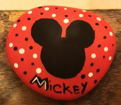 Mickey mouse painted rock.. by vivian