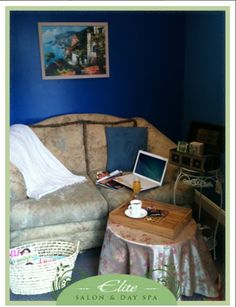 Elite Salon & Day Spa Relaxation Room for Lunches & Lounging. Free Wi-Fi!