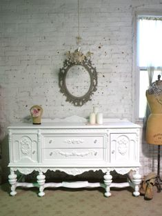 Your place to buy and sell all things handmade Painted Cottage, Shabby Cottage, Cottage Homes, Cottage Chic, Shabby Chic, Touch Up Paint, Glass Knobs, Paris Apartments, Sideboard Buffet