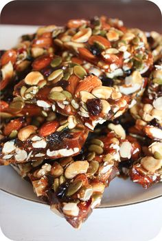"Pumpkin seeds and dried cranberries give this ""Autumn Brittle"" the perfect fall flavor!"