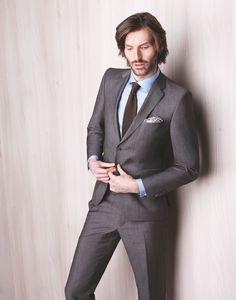#Anzug designed in #Switzerland, Oberstoff in braun-grau (made in #Italy) von #Strellson