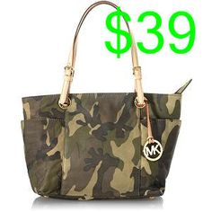 0272f8276c Michael Kors Camo zip tote...the country chic in me needs this.