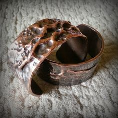 Copper, Glass and Recycled Trash: Air Chased Cuffs