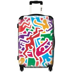 iKase 'Multicolored Pop Art Keith Haring',Check-in 24-inch .Hardside Spinner Luggage