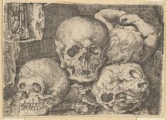 Barthel Beham (German, 1502–1540). Child with Three Skulls, early 16th century. The Metropolitan Museum of Art, New York. Harris Brisbane Dick Fund, 1953 (53.601.19(190)).