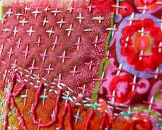 Hand quilting details by Nat Uhing.