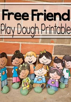 This free Friend Play Dough Printable is so great for  teaching kids how to make friends and how to be a good friend!