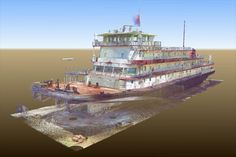 NCG provided 3D laser scanning services for the Mississippi IV River Boat exhibit at the Lower Mississippi River Museum and Riverfront Interpretive Site.