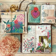 Estelle's Happy Journaling ! (@lululaberlue.e) • Instagram photos and videos Art And Hobby, Mix N Match, Vintage Paper, Good Vibes, Gouache, Collage, Photo And Video, Visual Journals, Happy