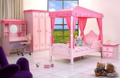 20 Adorable Princess Beds For Your Daughter's Room Kids Furniture Sets, Pink Furniture, Royal Bedroom, Dream Bedroom, Princess Palace, Pink Princess, Princess Beds, Daughters Room, Child Room