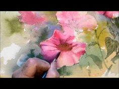 Grant Fuller.  How to paint flowers.  Starts off kind of .. so so .. With a WOW finish!!
