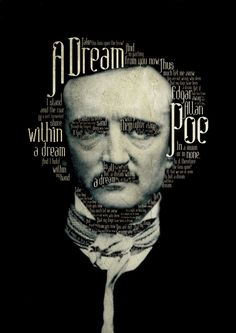 "Edgar Allan Poe #typography. So cool! The font is called ""Absinthe"" and you can download it on their website."