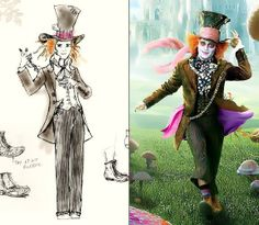 """Colleen Atwood designs nominated for the film """"Alice in Wonderland."""""""