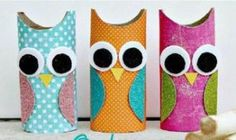 Have hours of crafting fun with these adorable 13 fun DIY toilet paper roll crafts for kids. A great addition to a fun summer schedule or just because craft time. Toilet Paper Roll Narwhal This… Diy Craft Projects, Kids Crafts, Owl Crafts, Crafts To Do, Craft Ideas, Easy Crafts, Diy Ideas, Decor Crafts, Decor Ideas