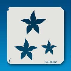 34-00002 Star Flower Stencil