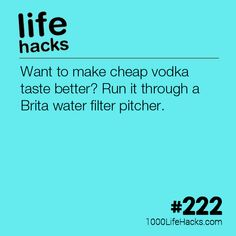 The post #222 – How To Make Cheap Vodka Taste Better appeared first on 1000 Life Hacks.