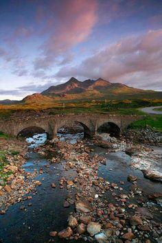 The Old Bridge at Sligachan, Isle of Skye, Inner Hebrides, Scotland
