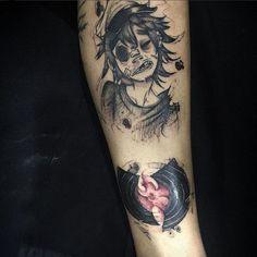 Love Tattoos, Tattoo You, Body Art Tattoos, Black Art Tattoo, Tattoo Flash Art, Tattoo Sketches, Tattoo Drawings, Kon Bleach, Alien Tattoo