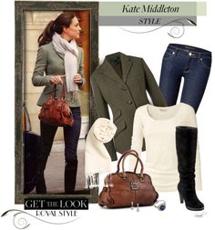 """Get the Look - Kate Middleton Style - Elegant Casual"" by of-simple-things on Polyvore"