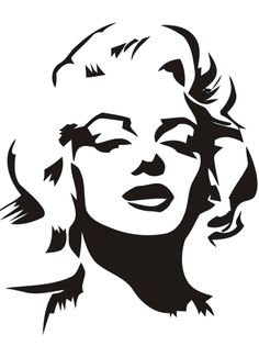 Marilyn Monroe Stencil by Gulcin … Stencil Graffiti, Stencil Art, Marilyn Monroe Stencil, Marilyn Monroe Drawing, Marilyn Monroe Tattoo, Art Sketches, Art Drawings, Tableau Pop Art, Frida Art