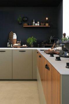 Kitchen 'Warm & Unique' by Kitchen Art, Kitchen Interior, New Kitchen, Kitchen Dining, Kitchen Cabinets, Marble Interior, Pitt Cooking, Kitchenette, Interior Styling