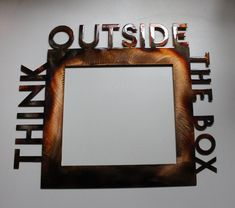 Think Outside of the Box Metal Wall Art