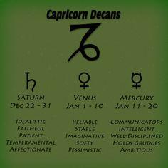 Capricorn Decans