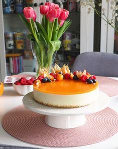 Mango-appelsiinijuustokakku - Kaakao kermavaahdolla Rocky Road, Macarons, Mango, Nutrition, Cake, Desserts, Food, Manga, Tailgate Desserts