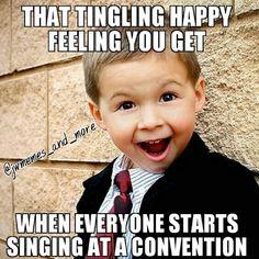 I love hearing all the many joyful voices singing praises to our wonderful God, Jehovah.  I always get goosebumps.←← yep!!! I agree!!