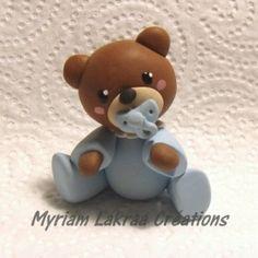 Bébé ours fimo - Peinture-modelage, le blog des créations fimo et peintures de Myriam LAKRAA