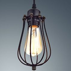 yobo lighting industrial edison hanging lamps oil rubbed bronze wire caged 1light pendant lights