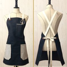 The Daily Grind Collection by Wood & Spool - Handmade aprons, customized and personalized options. off first purchase with and Apron Pattern Free, Apron Patterns, Dress Patterns, Cool Aprons, Custom Aprons, Diy Clothes Videos, Sewing Aprons, Apron Designs, Sewing Patterns For Kids