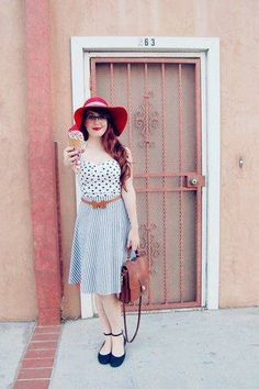 Icecream and polka dots makes for killer springtime style. #stylegallery