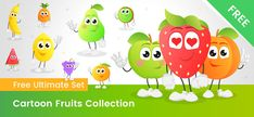 Download - Vector Characters Free Vector Clipart, Fruit Vector, Graphic Design Posters, Embroidery Designs, Vector Characters, Clip Art, Shapes, Cartoon, Butterflies