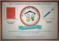 Opération organisé afin de collecter des stylos et des cahiers de brouillons pour les écoliers de l'ile de Bohol Bohol, France, Afin, Philippines, Pens, French