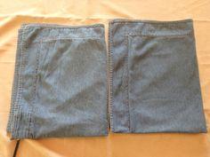 Set of 2 Blue Jean Denim Pillowcase Shams 100% Cotton 26x18 Beacon point #BeaconPoint #Country