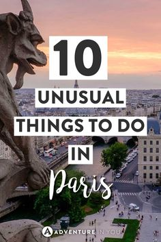 Paris Travel | Looking for unusual things to do in Paris? Check out this guide on the best things to do in Paris aside from museums and shopping. #paris #france #europe
