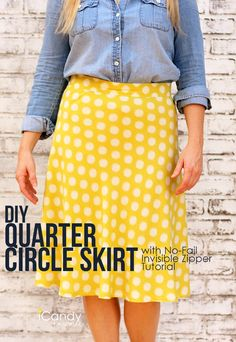 DIY 1/4 Circle Skirt sewing tutorial