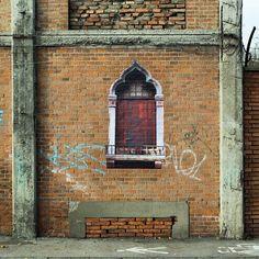 """Sbagliato - Italian Street Artist - """"Veneziana 1"""" - Bologna (IT) -  \*/  #sbagliato #streetart"""