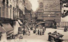 La rue Mouffetard en 1900....reépinglé par Maurie Daboux ❥•*`*•❥