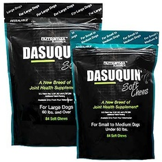 Nutramax Dasuquin Soft Chews for Dogs 60-Pound and Up, 84 Chews