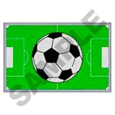Image result for machine embroidery soccer field