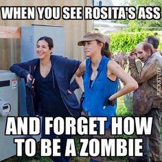 The Walking Dead funny meme Rosita The Walking Dead, Walking Dead Jokes, Walking Dead Tv Series, Walking Dead Zombies, Fear The Walking Dead, Twd Memes, Funny Memes, Hilarious, Memes Humor