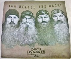 """Duck Dynasty 2XL Adult Men's Gray """"The Beards Are Back"""" A&E Channel T-Shirt #Delta #GraphicTee #bigmikefoundit"""