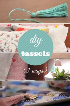 HGTV Crafternoon shares how to make chic and trendy embroidery floss tassles in just few simple steps for under fifty cents each.