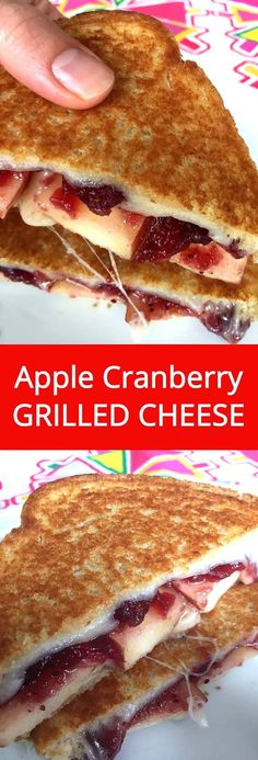 Apple Cranberry Grilled Cheese