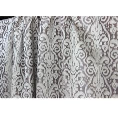 Grey Silver Pattern Grommet Lined Curtain in by FabricMart on Etsy