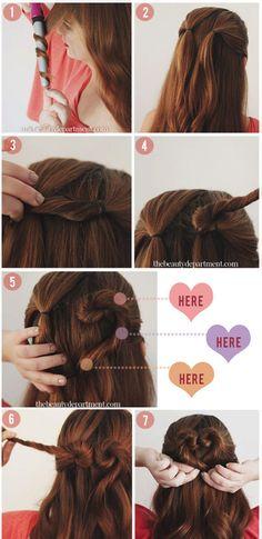 Een hartje in je haar - In zes simpele stappen - ThePerfectYou.nl