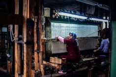 Photo taken on January 22, 2014, shows women working on a carpet in a tiny factory in Kostandovo, a small village in Bulgaria's southern Rhodope mountains. (DIMITAR DILKOFF/AFP/Getty Images) From: 39 Stunning Images Celebrating Women Around The World